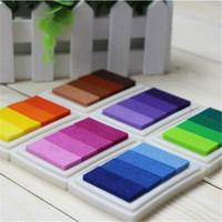 Wholesale Style Gradient Colors Ink Pads Rubber Stamps Inkpad set DIY funny work Fingerprint Scrapbooking Accessories