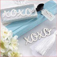 Wholesale Creative XO tassel Metal Bookmark Festival Wedding Party Xmas Gift