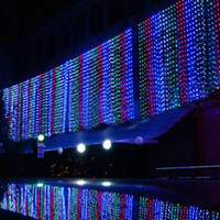 Wholesale 10M M meter Weding LEDS Curtain Lights Holiday leds Christmas Garden Decoration Party Flash Fairy curtain String Light