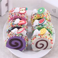 Wholesale 50pcs cm Needle color simulation PU fake Swiss small cone cupcakes fridge magnet Early Learning creative props ornaments pastry
