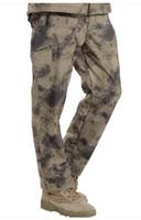 Wholesale TAD Shark Skin Waterproof Windproof Outdoor Hiking Climbing CS Camouflage Hunting Pants Men Fleece Trousers Military Army Pant