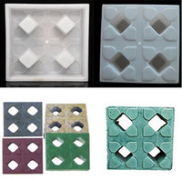 Wholesale Holes Shape DIY Walking Path Maker Garden Lawn Grass Planting Brick Mold Good Helper