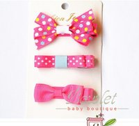 baby hair clippies - Baby Girl Chiffon Plume Hair Clips Gray Tiny Bow Clips Set of Hair Clippies