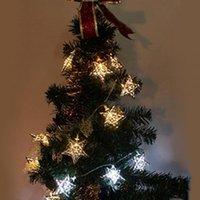 battery powered fluorescent light - 1 M LED Light String Christmas Xmas Star Shape Fairy String Light Decor Battery Power