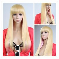 Wholesale WigShow quot Mixed Blond Pink Hair Fashion Women s Straight Hair Cosplay Party Wig