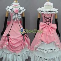 Wholesale Kuroshitsuji Black Butler Ciel Phantomhive Cosplay Costumes Women girls Halloween dress party clothing Custom made Uniform