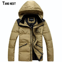 Wholesale Men s Coat New Arrival Casual Fashion Hooded Patchwork Men s Coat Thick Hat Detachable Winter Wear Warm Slim Coat MWM896