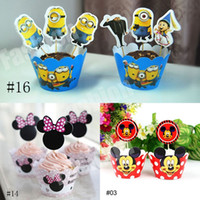 Wholesale Big Hero Paper Cupcake Wrappers and Toppers Minions The Avengers Frozen Baby Children Party Birthday Shower set Factory