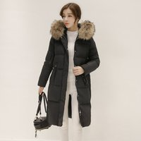 Wholesale 2016 New Winter Collection Women Down Coat Jacket Warm High Quality Woman Down Parka Winter Coat with Silver Fox Fur