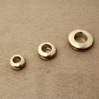 Wholesale pieces brass gas hole screw Threaded connection eyelet DIY bag belt part hardware handmade cloth ring buckle hole