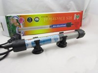 Wholesale Aquariums Submersible Heater Heating Rod Fish Tank Temperature Adjustment Water Temperature Thermostat Heater w J009 FS
