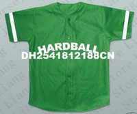 baby embroidery blanks - Mens Jermaine Dupri G Baby jerseys blank Hardball Baseball Jersey green Theme Song customize any number embroidery jerseys
