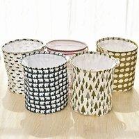 Wholesale New Arrival Laundry Basket Tree Bear Hedgehog Pattern Cotton Linen Washing Clothes Storage Basket JC0214