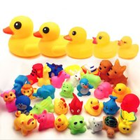 Wholesale TIANS WJ1022 Baby Bath Water Toy Sounds Yellow Rubber Ducks Animals Octopus Penguin Tortoise Kids Bathe Swiming Beach Toys Children Gifts