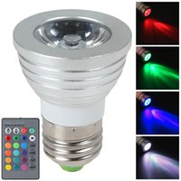 Wholesale hot Energy Saving W E27 Colors Changing RGB LED Bulb Energy Saving Lamp with Wireless IR Remote Controller