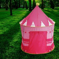 Wholesale Kids Girl Play Tent Portable Folding Princess Castle Fairy Cubby Child House