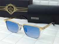 aristocrat gold - Dita Sunglasses ARISTOCRAT Square Gold Plate Frame Blue Lens Eyewear Brand New with Box