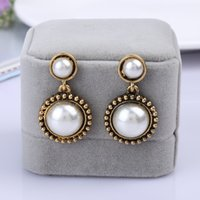 big earrings trend - Jewelry trade official network synchronization big fashion trend in Europe and America pearl jewelry earrings earrings influx of p