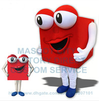 advertise gift box - Can Change Color Anime Cosply Costume Red Square Container Gift Box Mascot Costume Advertising Mascotte Fancy Dress Suit Kits