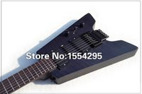 Wholesale NEW Arriva Steinberger Headless Travel Electric Guitar Shortest Guitar Portable Mini Flamed Maple Satin TBK