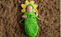 Wholesale Children photography wool hand knit photographing infants sleeping bag cartoon costumes