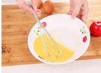 Wholesale Stainless Steel Hand egg Whisk beater Cream Agitator Kitchen Gadgets and Surface for Kitchen Eggbeater Egg Extraction Cooking Tools