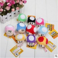 Wholesale 3 quot Super Mario Bros Mushroom Plush Soft Plush Doll Stuffed Toy with key chain new with tags
