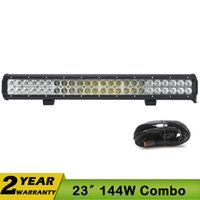off road led - 23 Inch W LED Work Light V Bar Headlights Fog Flood Spot Off Road Lamp Seckil W W V V WD SUV UTE