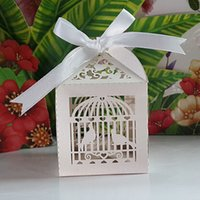 bamboo birdcages - 2016 New Birdcage Wedding Box candy box wedding favors decor wedding party gift box event party supplies