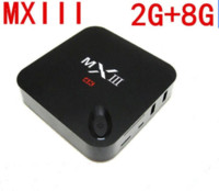 Wholesale Original MX3 Android Smart TV Box Amlogic S802 K Quad Core GB GB XBMC Kodi fully loaded with Live TV adult xxx movies sports