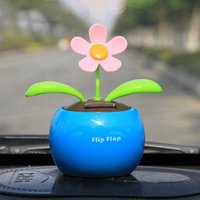 Wholesale Car shaking his head Decoration lovely flower car solar apple flower decorative supplies jewelry small Decoration doll