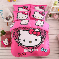 baby bedding comforters - Hello kitty Bedding set Cotton For Child baby children Bedding sets or bedding set student New Arrival