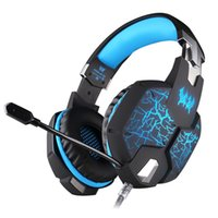 bass vibration headphones - EACH G1100 Vibration Function Professional Gaming Headphone Games Headset with Mic Stereo Bass Breathing LED Light for PC Gamer