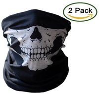 Wholesale Motorcycle Face Masks Pieces Xpassion Skull Mask Half Face for Out Riding Motorcycle Black Color Black