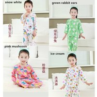 Wholesale Kids Sweat Cotton Home Wear Big Boy Girls Cartoon Print Top and Shorts Set Spring Autumn Sleepwear Clothing Set Random send