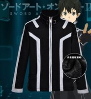 alo clothing - Sword Art Online Kirito Cotton Hoodie amp Jacket ALO Party Hallowmas Clothing Cosplay Costume M XL NEW