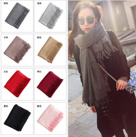 Wholesale Cashmere Scarf Winter Women s Scarf Tassel Scarf Fashion Wrap Shawl Luxury Brand Scarf Pashmina Tassels Women Men Wrap