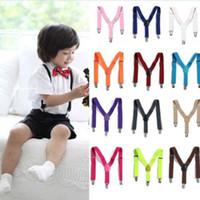 Wholesale New Children Kids Boy Girls Toddler Clip on Suspenders Elastic Adjustable Braces