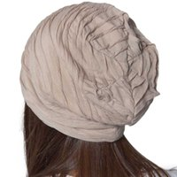 acrylic profiles - Essential Fashion Hip Hop Fold Cap Slouch Wrinkled Beanie Cap Male And Female Dance Hat Low Profile Cap Unique Wrinkled