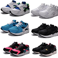 Wholesale Air Huarache kids Sneaker Black White Sneakers boys and girls Running Shoes Huaraches Children shoes size