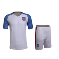 Wholesale 16 Americaes home and away soccer sets no brands have the team logos style soccer uniforms