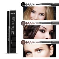 auto eyebrow pencil - Waterproof Flat Auto Eyebrow Enhancer Pencil Makup Eyebrow Pencil Eyebrow Brush Magical Halo Cosmetic Tool