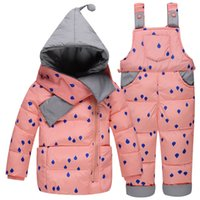 baby magic jackets - baby down jacket and strap pant Baby Boys thick warm down suit Baby Girl fashion secarves magic hat down jacket and pant