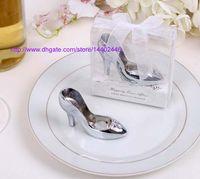 beer shoes - 20pcs Cinderella Shoe High Heel Shoe Bottlecap Beer Bottle Can Opener Fun Openers Collectible Shower Wedding Gift party Silver