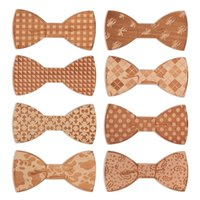Wholesale 2016 Top Fashion Design Solid Wooden Bow Tie Men Bowtie Women STARS LOVES MLJ001