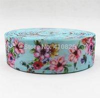 beautiful grosgrain - OEM ribbon inch mm beautiful blue flowers printed grosgrain ribbon webbing yards roll for headband