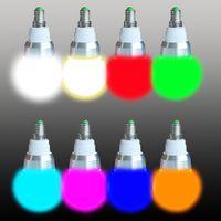 Wholesale Newest Wireless Remote Controller E27 E14 W RGB Colors LED Light Bulb Lamp V RGB Color Change Lampada LED Luz