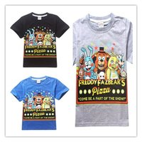 big five animals - 2016 happy Five nights at freddy s short sleeve T shirts print Boys Tops middle big kids clothes clothing quality years summer