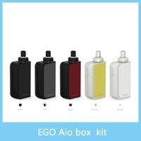 Joyetech eGo Kit de démarrage de boîte AIO avec 2ml e-Juice Capacité 2100mAh Batterie intégrée Kit tout-en-un eGo AIO Box 100% Original