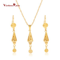 Wholesale WesternRain New Design K Jewelry Set Fashion Gold Plated Pendant Austria Style Necklace Fashion G671